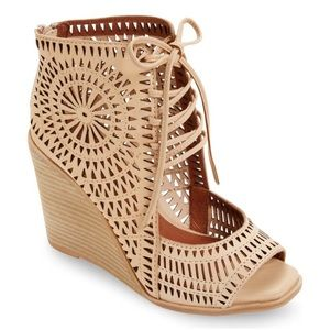 Jeffery Campbell Rayos Perforated Wedge Sandal